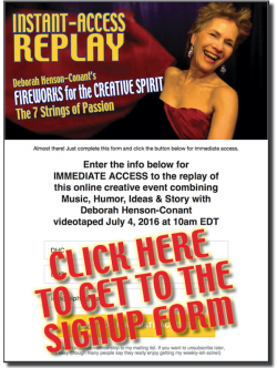 Fireworks for the Creative Spirit:  REPLAY TO DOWNLOAD