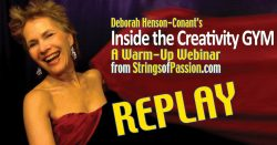 Inside the Creativity Gym REPLAY – A 'Strings of Passion' warmup webinar