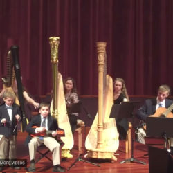 They're playing my song… MASHUP of Baroque Flamenco & Carol of the Bells – with Harps & Ukulele!