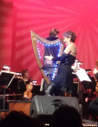 4-22-18 7 +Deborah on stage with harp