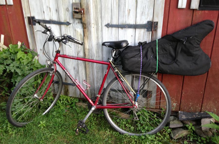 My smallest harp on my bike