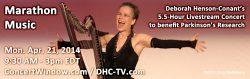 Marathon Music – Livestream 5.5 Hour Show – Mon. Apr. 21