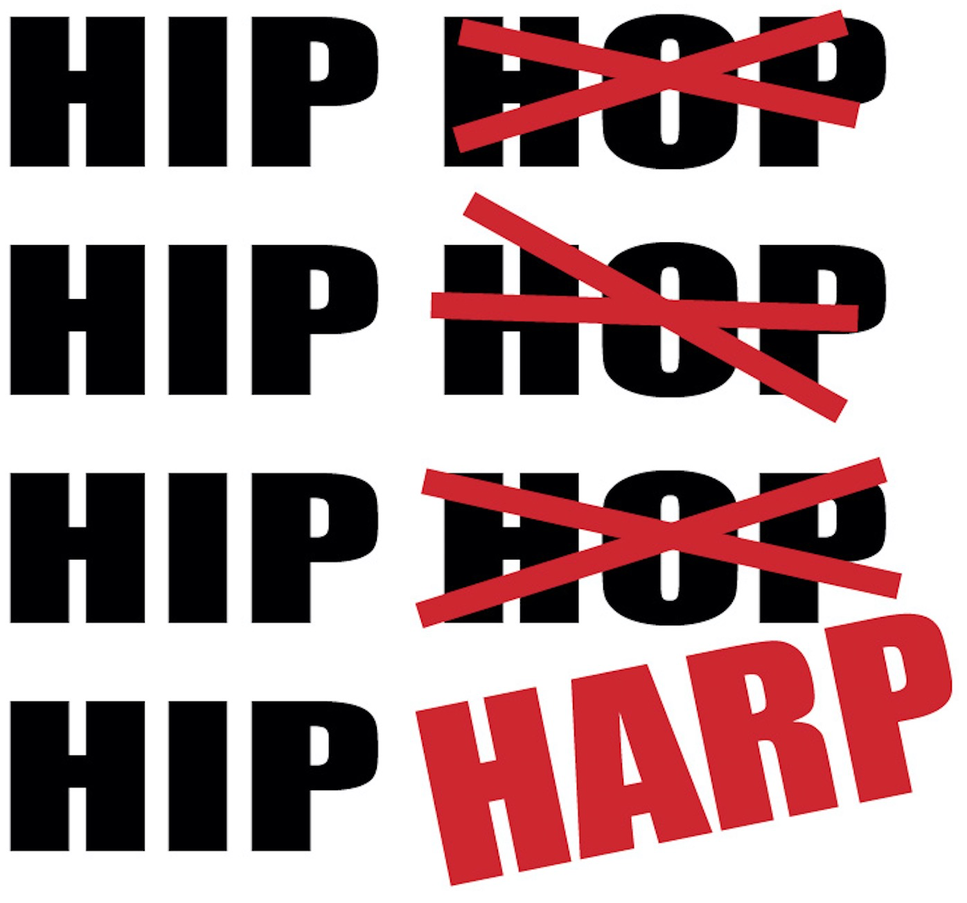 Why is Hip HARP not Hip HOP  or …What Happens when a Publicist makes a typo