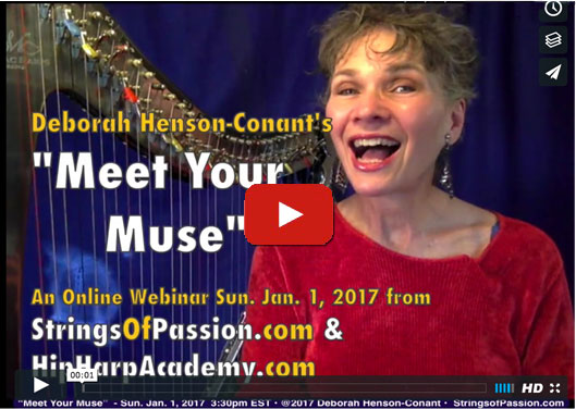 Meet Your Muse – for the New Year 2017 – A 'Strings of Passion' warmup webinar
