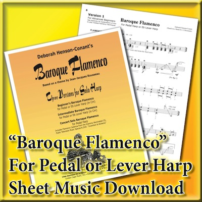 [Harp-Lever-Pedal] Baroque Flamenco