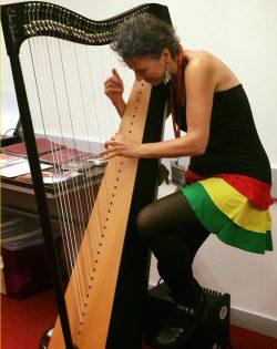 Just Strumming Around on Edmar's Harp in Hong Kong