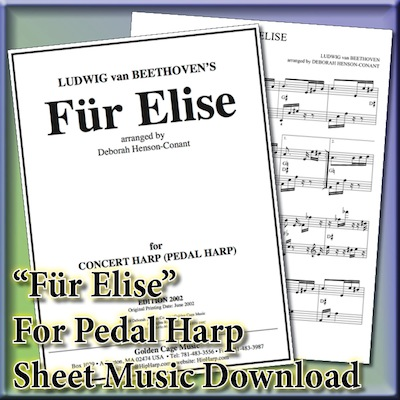 [Harp-Pedal] Für Elise  – The One Classical Piece my Mom could Play