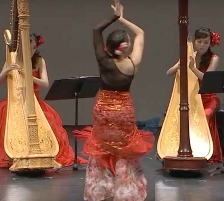 """They're playing my song… At a Harp Costume Party in Taipei """"Baroque Flamenco"""" is the Encore"""