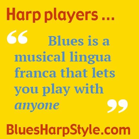 Blues is a Lingua Franca