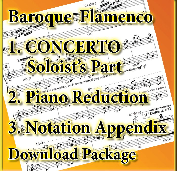 [Soloist & Piano Reduction Package] Baroque Flamenco CONCERTO SOLOIST