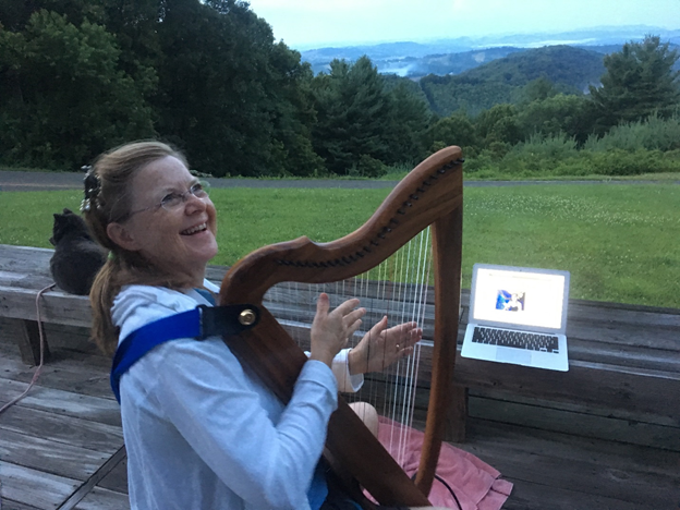 Jung at Harp: Charlotte Harp Chapter member Kathleen Wiley collaborates with DHC